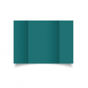 A5 Gatefold Teal Card Blanks