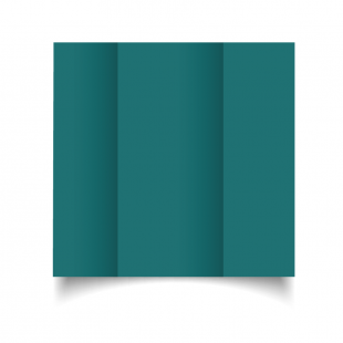 DL Gatefold Teal Card Blanks