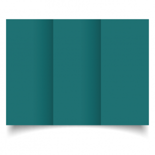 DL Trifold Teal Card Blanks
