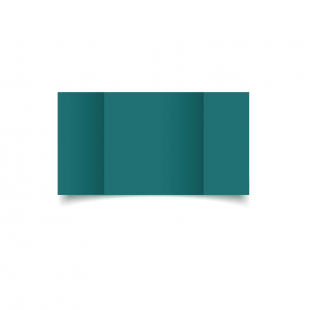 Large Square Gatefold Teal Card Blanks