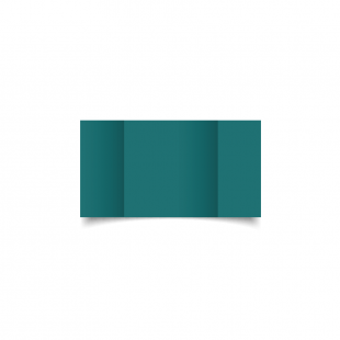 Small Square Gatefold Teal Card Blanks