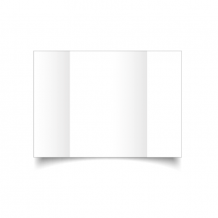 A5 Gatefold White Plain Card Blanks