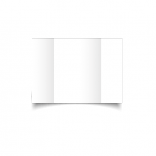 A6 Gatefold White Plain Card Blanks