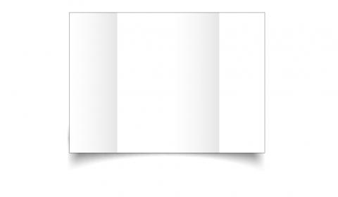 A6 Gatefold White Plain Card Blanks