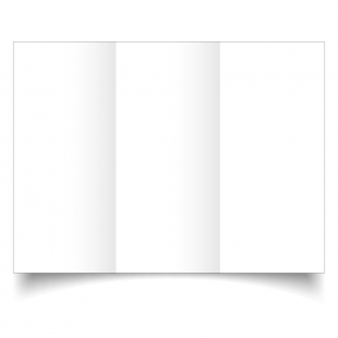 DL Trifold White Plain Card Blanks