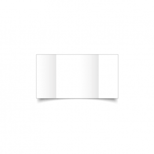 Small Square Gatefold White Plain Card Blanks