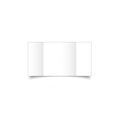 White Small Square Gate Fold Card Blank 01