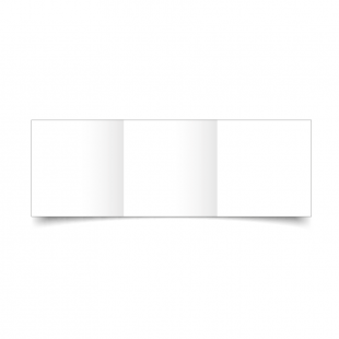 Small Square Trifold White Plain Card Blanks