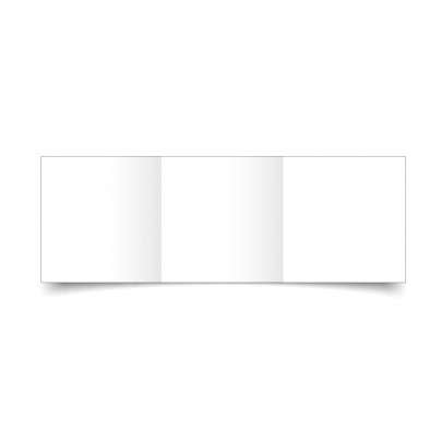 White Small Square Tri Fold Card Blank 01