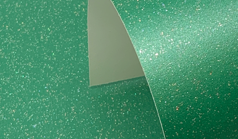 Xmas Green Pure Sparkle Card Blanks One Sided 300gsm