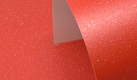Xmas Red Pure Sparkle Card Blanks One Sided 300gsm