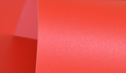 Xmas Red Pure Pearl Double Sided Card 300gsm