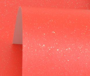 Xmas Red Sparkle Print Card 300Gsm