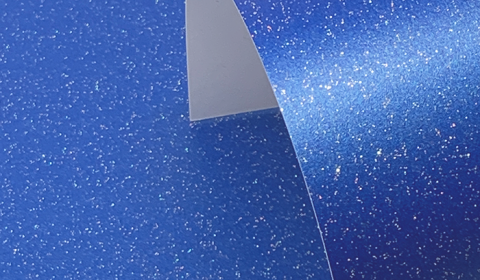 Yale Blue Pure Sparkle Card Blanks One Sided 300gsm