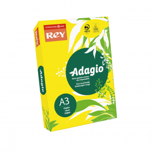 A3 (297x420mm) Rey Adagio Yellow 80gsm | 500 Sheets