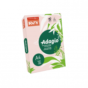 A4 (210x297mm) Rey Adagio Pink 80gsm | 500 Sheets