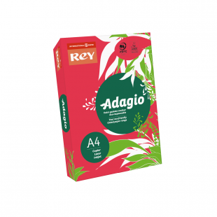 A4 Rey Adagio Red 80gsm | 500 Sheets