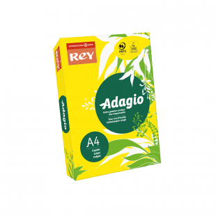 A4 (210x297mm) Rey Adagio Yellow 80gsm | 500 Sheets