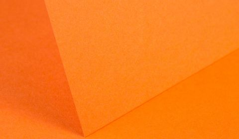 Mandarin Orange Plain Card 240gsm
