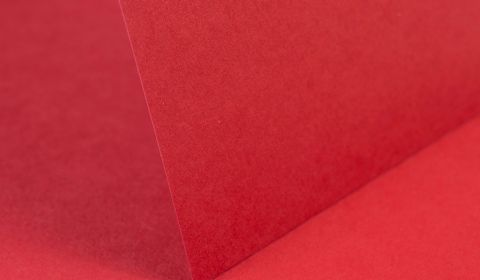 Christmas Red Plain Card 240gsm