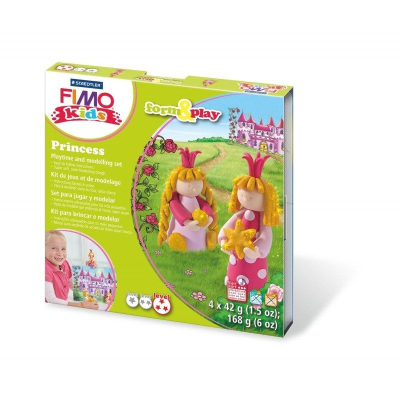 Fimo Kids Princess Form Play Polymer Clay Set