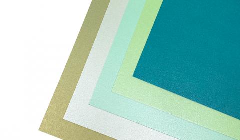 "Green Pearlised Mixed Card Pack 12"" x 12"" | 5 Sheets"