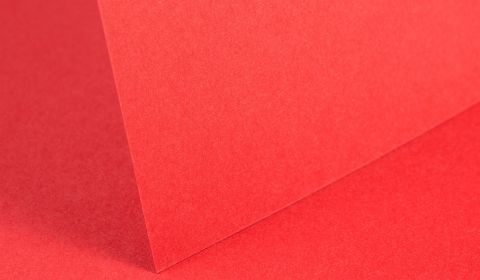 Post Box Red Card Blanks Double Sided 240gsm