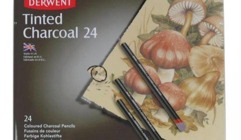 Derwent Tinted Charcoal Pencils - Assorted - Tin of 24