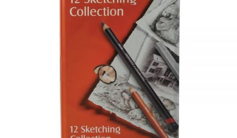 Derwent Sketching Collection - Mixed Drawing Materials - Tin of 12