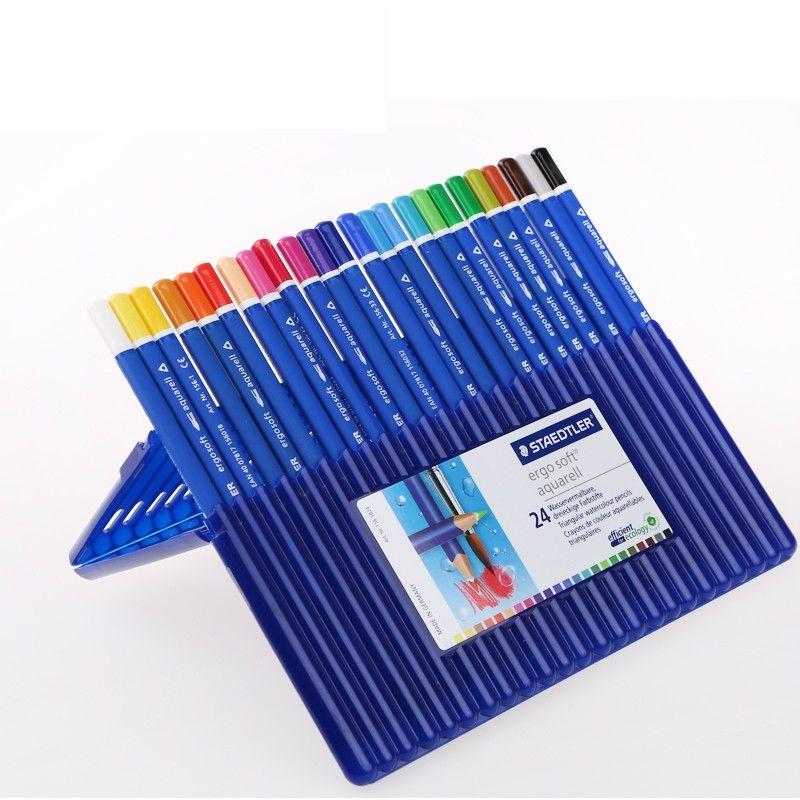 Staedtler Ergosoft Aquarell Triangular Water Color Pencil In Premium Quality 156 Sb 24