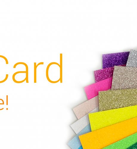 New Glitter Card