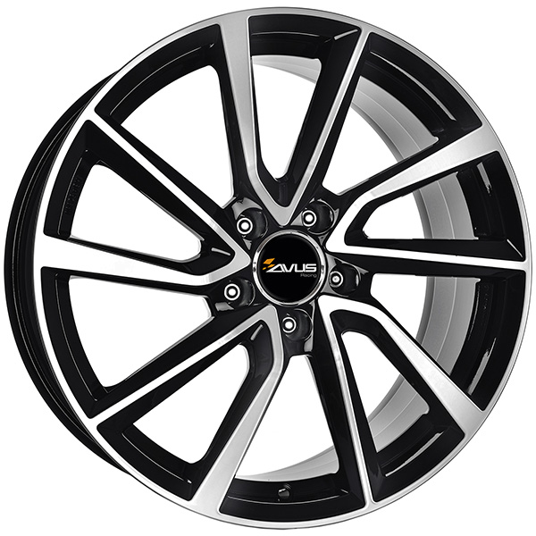 AVUS AVUS AC-518 8x19 5x112 ET 47 BLACK POLISHED AC-518 8x19 5x112 ET 47 BLACK POLISHED