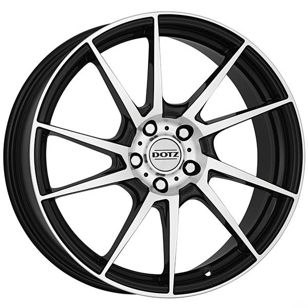 DOTZ DOTZ Kendo 7x16 5x114.3 ET 40 Black/polished Kendo 7x16 5x114.3 ET 40 Black/polished