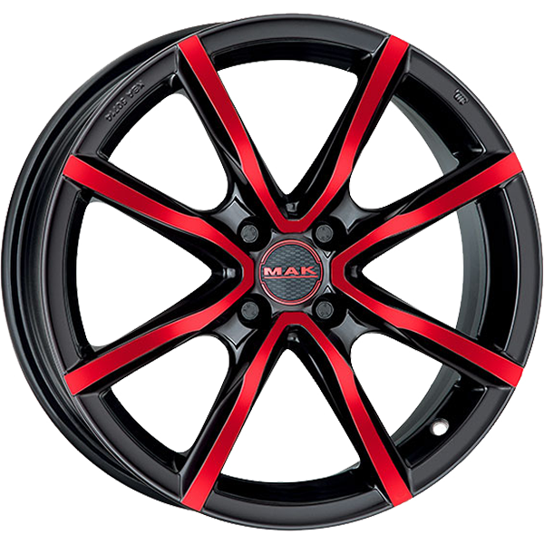 MAK MAK MILANO 4 6x15 4x100 ET 40 BLACK AND RED MILANO 4 6x15 4x100 ET 40 BLACK AND RED