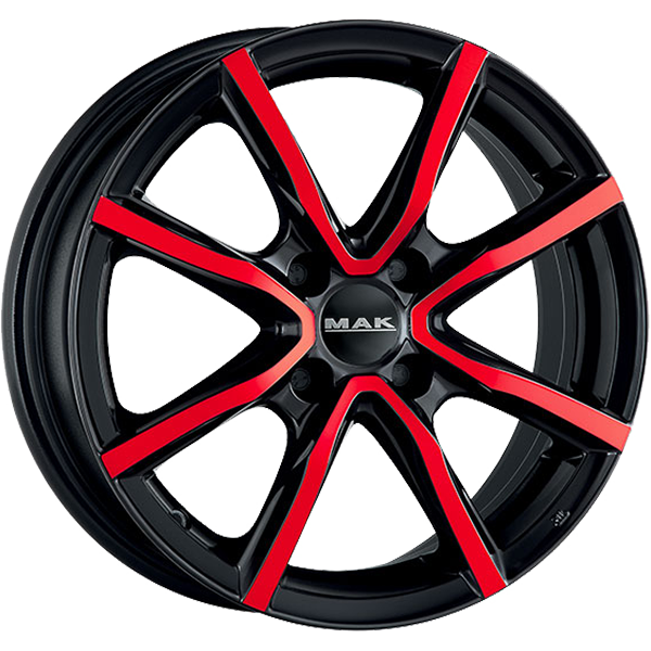 MAK MAK MILANO 4 YOU 6x15 4x100 ET 38 BLACK AND RED MILANO 4 YOU 6x15 4x100 ET 38 BLACK AND RED