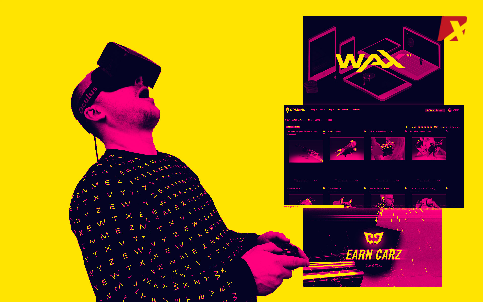 Blockchain-Based VR Game Partners With WAX and OPSkins
