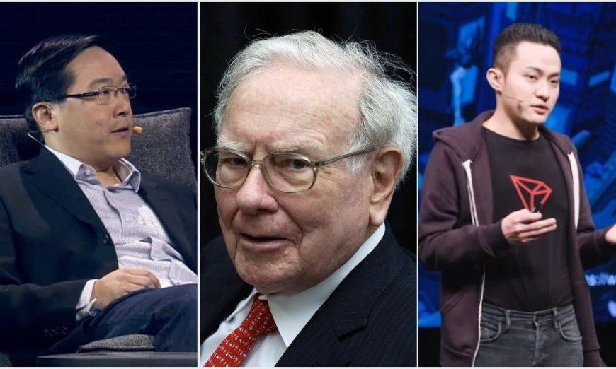 Justin-Sun-Charlie-Lee-Warren-Buffett