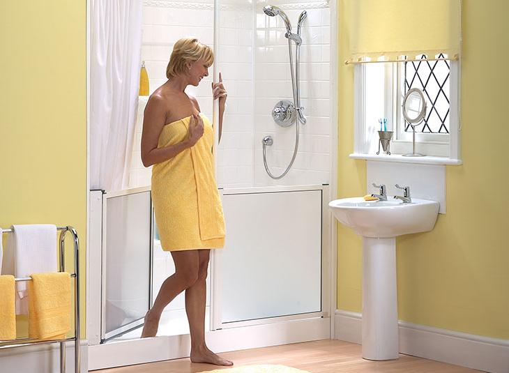 Instapdouche aquashower badkamer practicomfort