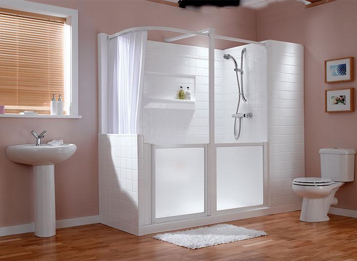 Badkamer Showroom Katwijk : Instapdouche aquashower badkamer practicomfort