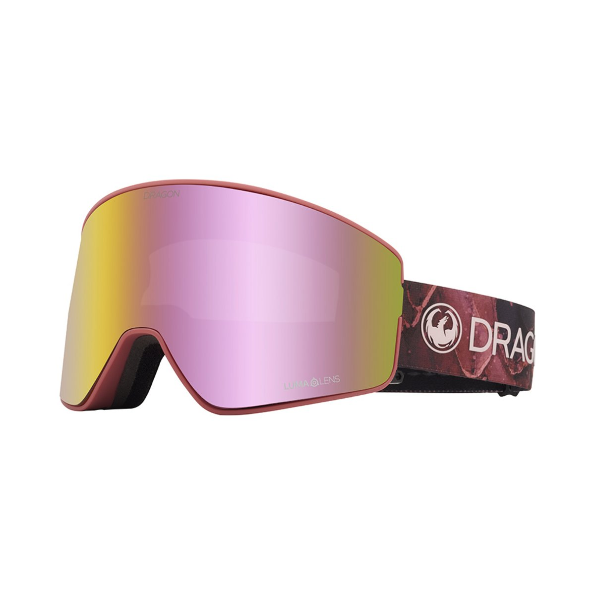 Dragon Women's PXV2 Rose / Lumalens Pink Ionized + Lumalens Dark Smoke Goggles 2019 / 2020 0