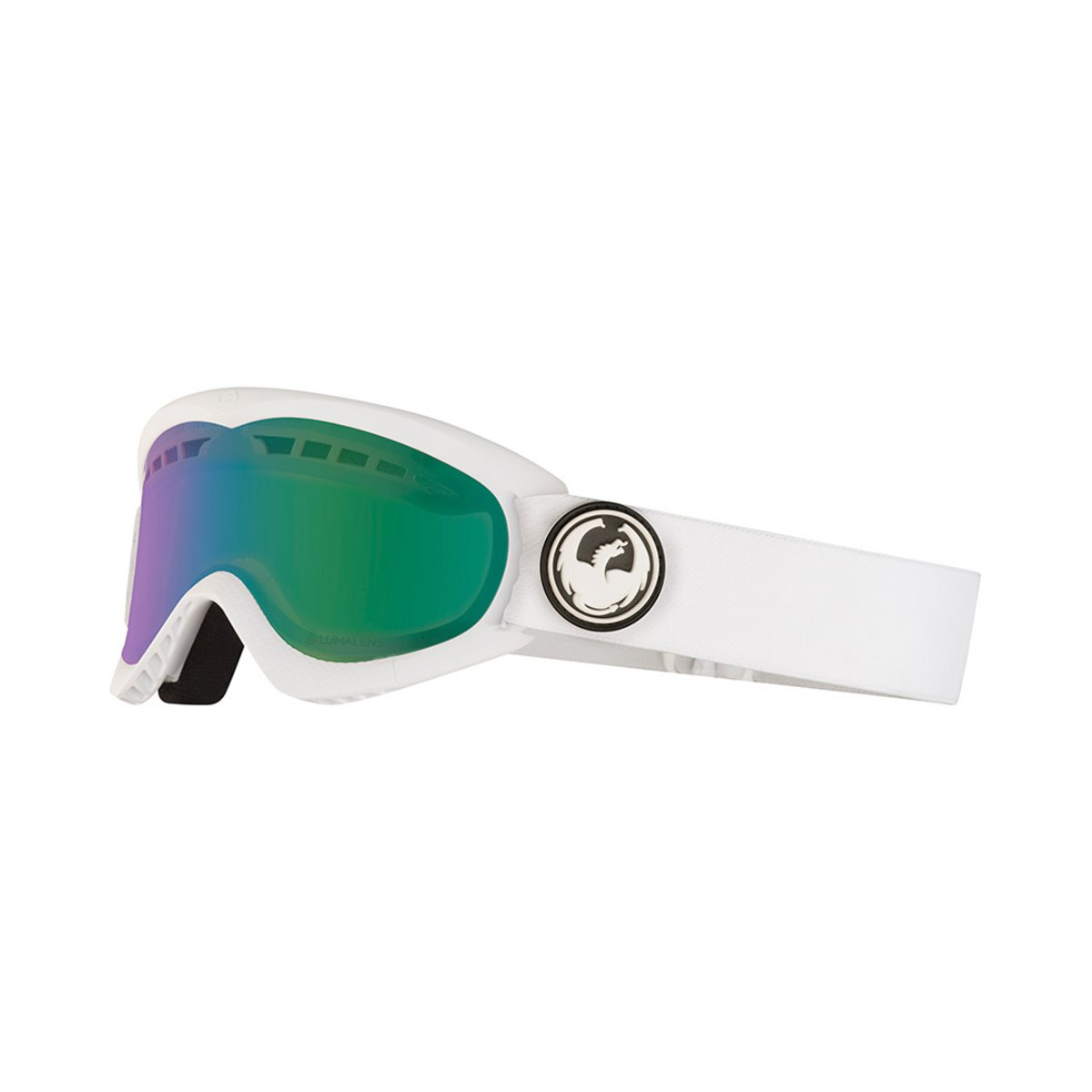 Dragon DXs White / Lumalens Green Ionized + Lumalens Yellow Goggles 2019 / 2020 0