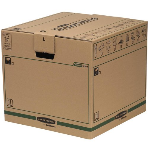 Fellowes Smooth Move Bankers Box Removal Boxes Large 457x457x406mm Ref 6205301 Pack 5