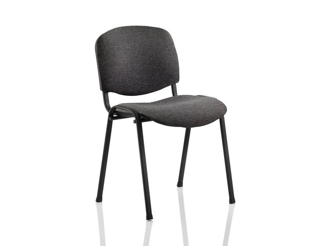 Auditorium or stadium or special use seating Trexus Stacking Chair Black Frame Charcoal 470x420x500mm Ref BR000059