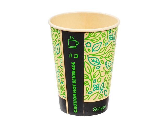Ingeo Ultimate Eco Bamboo 8oz Biodegradable Disposable Cups Ref 0511223 [Pack 25]