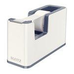 Leitz Tape Dispenser WOW Including Tape for rolls 19mmx33m White Ref 53641001