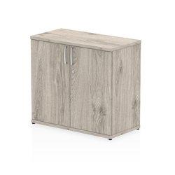 Storage cabinets Trexus Desk High Cupboard 600mm Deep Grey Oak
