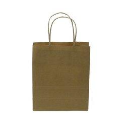 Paper bags Kraft Paper Carrier Bag Twisted Handles Medium 260x340x120mm 90g Natural Brown Ref 12929 Pack 100