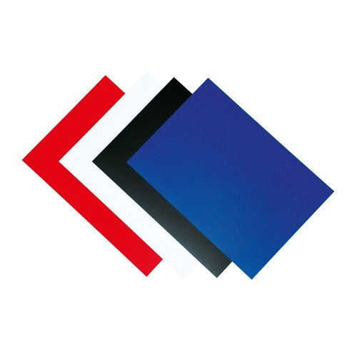 Binding covers Fellowes Binding Covers 250gsm A4 Royal Blue Gloss Ref 5378203 Pack 100