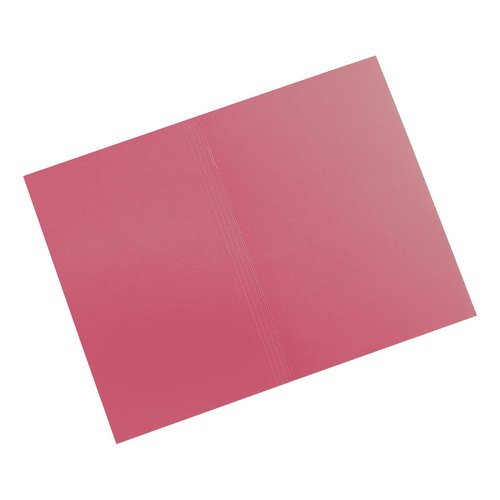 5 Star Elite Square Cut Folders 315gsm Heavyweight Manilla Foolscap Red Pack 100