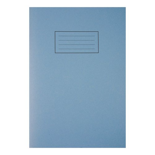 Silvine Exercise Book Ruled and Margin 80 Pages 75gsm A4 Blue Ref EX108 Pack 10